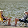 There was plenty of room at the beach at Hiniker Pond for Connie and Terry Robinson Tuesday as temperatures climbed into the mid-90s. The July-like weather is expected to come to an end with more seasonable conditions for the rest of the week.