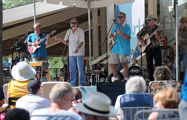 Pat Christman<br /> City Mouse performs on the main stage during Saturday's Rock Bend Folk Festival in St. Peter.