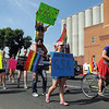 Gay straight alliancePat Christman<br /> The Mankato West High School Gay Straight Alliance marches during Saturday's South Central Minnesota Pridefest parade.