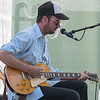Eric Koskinen plays guitar at the Rock Bend music festival on Saturday. Photo by Jackson Forderer