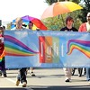 Pridefest parade in Mankato