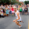 "Kenyon Neuman, of Boulder, rounds the corner for his second lap during the competitive men's race during the West End 3K on Thursday, July 19, on Pearl Street in Boulder. Neuman won the race. For more photos and video of the race go to  <a href=""http://www.dailycamera.com"">http://www.dailycamera.com</a><br /> Jeremy Papasso/ Camera"