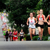 "Kara Lubieniecki, left, Deanna Ardrey and Kristen Fryburg-Zaitz lead the pack of competitive women during the West End 3K on Thursday, July 19, on Pearl Street in Boulder. Fryburg-Zaitz won the race. For more photos and video of the race go to  <a href=""http://www.dailycamera.com"">http://www.dailycamera.com</a><br /> Jeremy Papasso/ Camera"