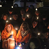 First Parish Church United of Westford holds a candlelight vigil for victims of gun violence on the fifth anniversary of the Sandy Hook Elementary School shooting.  (SUN/Julia Malakie)