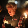 Robert Shaw of Groton, a member of First Parish Church United of Westford, as the church holds a candlelight vigil for victims of gun violence on the fifth anniversary of the Sandy Hook Elementary School shooting.  (SUN/Julia Malakie)