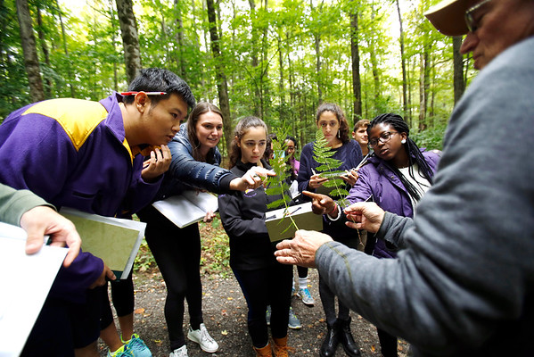 Williams students study environment at The Clark's Lunder Center at Stone Hill-092816