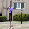 Wilmington features. Cross decorated (for Good Friday?) at Wilmington Methodist Church. (SUN/Julia Malakie)
