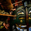 KRISTOPHER RADDER - BRATTLEBORO REFORMER<br /> Robert Leustek, of Winchester, N.H., shows the gears that he has already cleaned during his restoration of the clock at the Center Church in Winchester, N.H., on March 6, 2017. Leustek has been working on restoring the clock and bell at the church since October 2016.