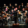 KRISTOPHER RADDER — BRATTLEBORO REFORMER<br /> Music Director Hugh Keelan leads the Windham Orchestra as they play for elementary students at the Latchis Theatre, in Brattleboro, on Thursday, Nov. 1, 2018.