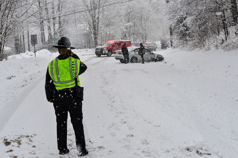 KRISTOPHER RADDER - BRATTLEBORO REFORMER<br /> A section on Route 5 in Putney was closed after a motor vehicle collision due to weather. No injuries were reported.