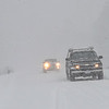KRISTOPHER RADDER - BRATTLEBORO REFORMER<br /> Several vehicles tries to make passage on Route 9, in Chesterfield, N.H., while wind whips snow around during Winter Storm Stella on Tuesday, March 14, 2017.