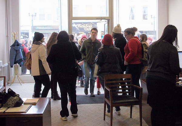 Spencer Tulis/Finger Lakes Times Congressman Tom Reed's office was taken over peacefully by protesters.