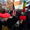 KRISTOPHER RADDER - BRATTLEBORO REFORMER<br /> People fill up Pliny Park, in Brattleboro, Vt., in solidarity with the Women's March on Saturday, Jan. 20, 2018 to mark the one year since Donald Trump was inaugurated.