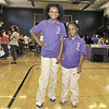 Jada and Arianna Murray model the new Troy School-2 Uniforms that will be worn by all students this year. (Mike McMahon / The Record) 08/22/13