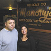 Louis and Jennifer Marchese owners of Manory's  Friday, January 11, 2013 celebrating 100 years in business in Troy. (J.S. Carras / The Record)