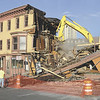 J.S. Carras/The Record Demolition of four thru ten King Street adjacent to Bombers Restaurant takes placeMonday, August 5, 2013 in Troy, N.Y..