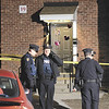 Troy Police investigate an an incident that took place inside of building 19 apartment 6 at Corliss Park Apartments Monday, February 04, 2013 in North Troy. (J.S.Carras/The Record)