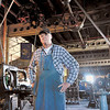 Volunteer Robert Rawls constructed the recreation of an early 20th century machine shop. The Watervliet Arsenal Museum will close on October 1st. (Mike McMahon/The Record)