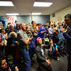 KRISTOPHER RADDER — BRATTLEBORO REFORMER<br /> Democratic presidential candidate businessman Andrew Yang talks to supporters while opening up a new campaign office in Keene, N.H., on Wednesday, Jan. 1, 2019.