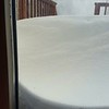 "In Southeast Pittsfield, ""18-inch drifts on my deck as of noon, before the accumulation starts."" Submitted by Jennifer Burks."