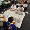 The Yu-Gi-Ho! tournament at the Mamie Doud Eisenhower Public Library  had 35 players including one girl and a player's father vying for prizes on Friday.<br /> August 10, 2012<br /> staff photo/ David R. Jennings