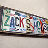 Zack's House at 221 Pawtucket Blvd, a partnership between Zack's Team Foundation and Lowell House, will open this week as a 'sober house' for 18-26-year-old men recovering from addiction. The Zack's House sign was custom made with license plates from New England. (SUN/Julia Malakie)