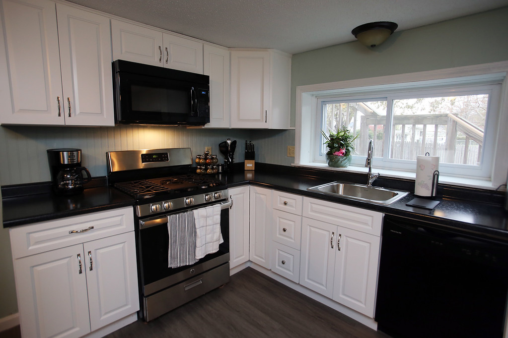 . Kitchen of Zack\'s House at 221 Pawtucket Blvd, a partnership between Zack\'s Team Foundation and Lowell House, which will open this week as a \'sober house\' for 18-26-year-old men recovering from addiction.  (SUN/Julia Malakie)