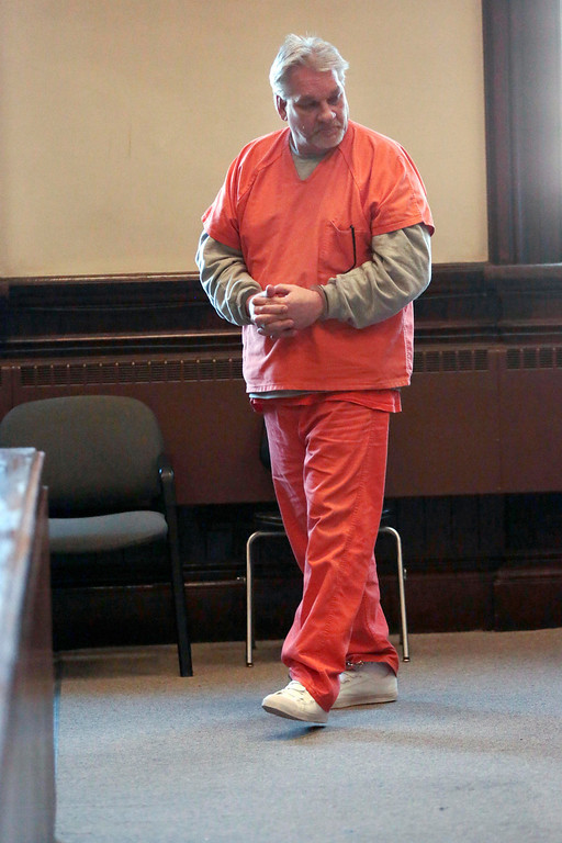 . Stuart Zebrowski pleads guilty to multiple counts of arson, breaking and entering, and larceny at Superior Court in Pittsfield on Monday, November 18, 2013. (Stephanie Zollshan | Berkshire Eagle Staff)