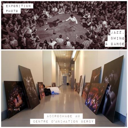 2016-04-04 Accrochage exposition «Jazz, Swing & Dance»