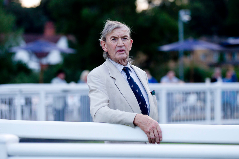 THE TIMES<br /> <br /> Trainer Harry Chisman watches the race 8.10 race at Worcester Racecourse, August 20 2013