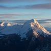 6 janvier, enfin un peu de neige. La Sambuy est presque skiable de haut en bas.<br /> Lever de soleil sur le Charvin, l'Etale, ...