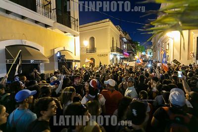 Massive Protests in San Juan, Puerto Rico 07/18/19