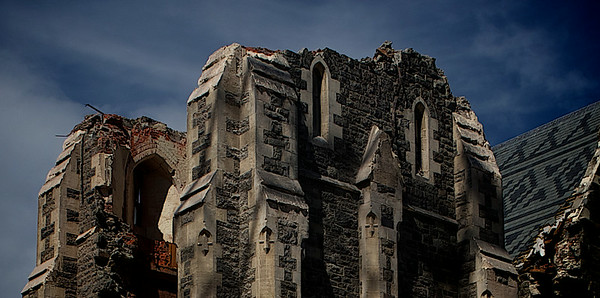 Christchurch's 131 year old Anglican Cathedral after the 2011 Earthquake