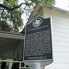 Historical Marker at Miss Lillie Dobie's House