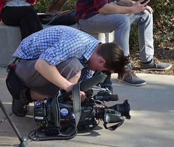 TV news camera operator.