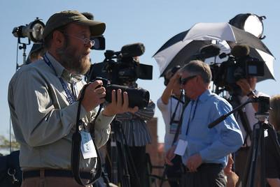 tv News Photographer News Photographer Preparing to