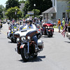 Don Knight | The Herald Bulletin<br /> Patriot Guard Riders accompany Airman Howard Martin home to Elwood on Thursday.