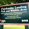 Tribune-Star file Bob Poynter<br /> Sign Detail: Detail photo of Fairbanks Landing Fish and Wildlife area.