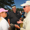 Tribune-Star file/Jim Avelis<br /> Interested parties: Dawn Horth, Duke Energy Director of Community Development, and Rick Burger, Duke's District manager, chat with Indiana Governor Mitch Daniels along the Wabash River in Terre Haute Tuesday June 12, 2012.