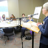 Don Knight   The Herald Bulletin<br /> Barb Collier leads the Women of the Word (WoW) bible study at Madison Park Church of God on Wednesday. Madison Park Church of God has emerged from bankruptcy proceedings.