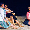 "John P. Cleary | The Herald Bulletin<br /> Judy (Gretchen Baldwin), Violet (Connie Rich), and Doralee (Holly Reagin) relax and have laughs together as they smoke a little pot in Anderson's Mainstage Theatre production of ""9 to 5: The Musical."""