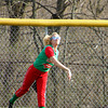 Chris Martin | For The Herald Bulletin<br /> Anderson's Center Fielder Avery Raper makes a throw against Elwood in the County Tournament. To view or buy this photo and other Herald Bulletin photos, visit heraldbulletin.smugmug.com.