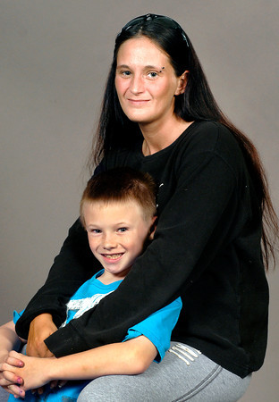 John P. Cleary   The Herald Bulletin<br /> Bonnie Trahan and her son Dallas McAllister, 8.