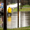 John P. Cleary | The Herald Bulletin<br /> Rainy, high water photos around town.