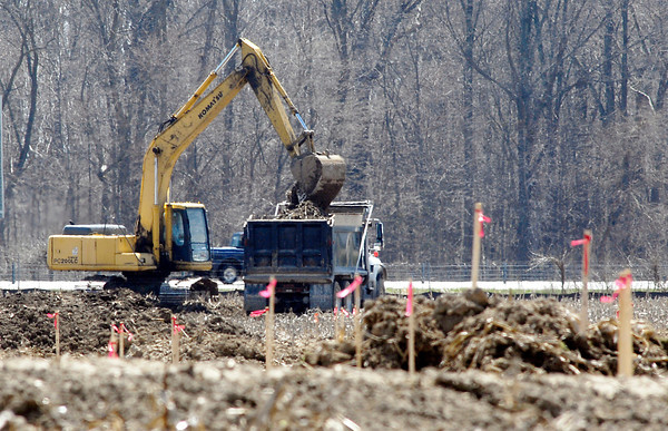 John P. Cleary | The Herald Bulletin<br /> Crews from Freeman Grading & Excavation have started site work preparing the 38-acre site along east 60th Street for the new Ivy Tech Community College campus.<br /> <br /> .