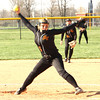 Photo by Chris Martin<br /> Alexandria's Haliee Beeson pitches against Madison Grant on Wednesday