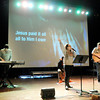 Don Knight   The Herald Bulletin<br /> Sam Westhoff, Damarcus Watkins, Abi Dawson and Ethan Utterback lead the worship during the Ignite service for high school students at Madison Park Church of God on Wednesday. Facing a $5.8 million balloon payment on a bond issued in 2007 the church entered bankruptcy to reorganize the debt and has now emerged from the proceeding.