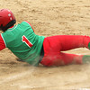 Photo by Chris Martin<br /> Anderson's Donjanae Chamberlain scores sliding against Pendleton Monday