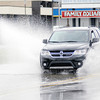 Don Knight | The Herald Bulletin<br /> Motorists deal with flooding along Nichol Avenue in front of the Marsh Supermarket on Thursday. More heavy rain is forecast for overnight and Friday morning.