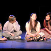 "Don Knight | The Herald Bulletin<br /> Maya (Cassandra Russell), talks about meeting her husband as from left Rosalinde (Savannah Treleven), Erin (Raechel Robertson), Kate (Aijamal Abdrahmanova) and Grace (Caytee Chandler-Pile) look on during Anderson University's production of ""Voices."""